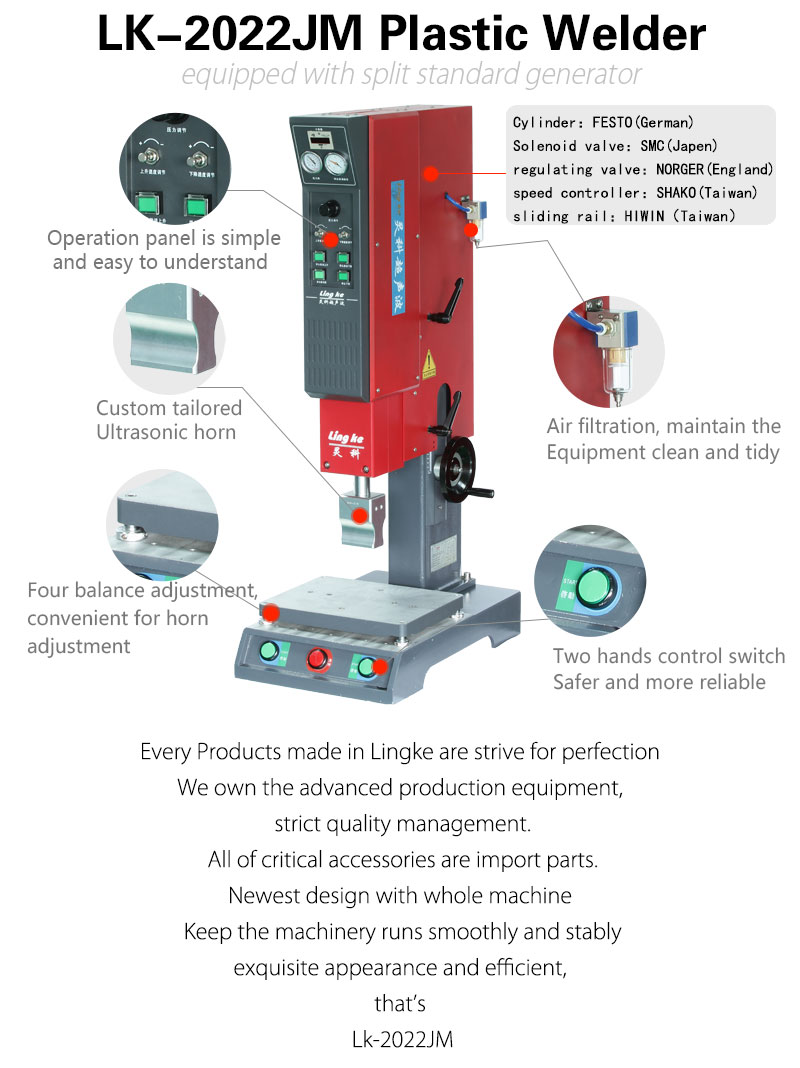 Lingke L3000 High End 20khz Ultrasonic Welding Machine 2000w 2600w Diagram Sheet Metal Non Rectangular Columns Coattails Groove Design More Precision Two Hand Start With Emergency Stop At Front Also Can Be Added The